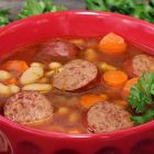 Smoked Sausage with White Bean Soup
