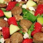 Strawberry & Apple Chicken Sausage Salad